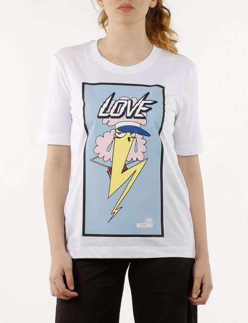 LOVE MOSCHINO T-Shirt Fulmine