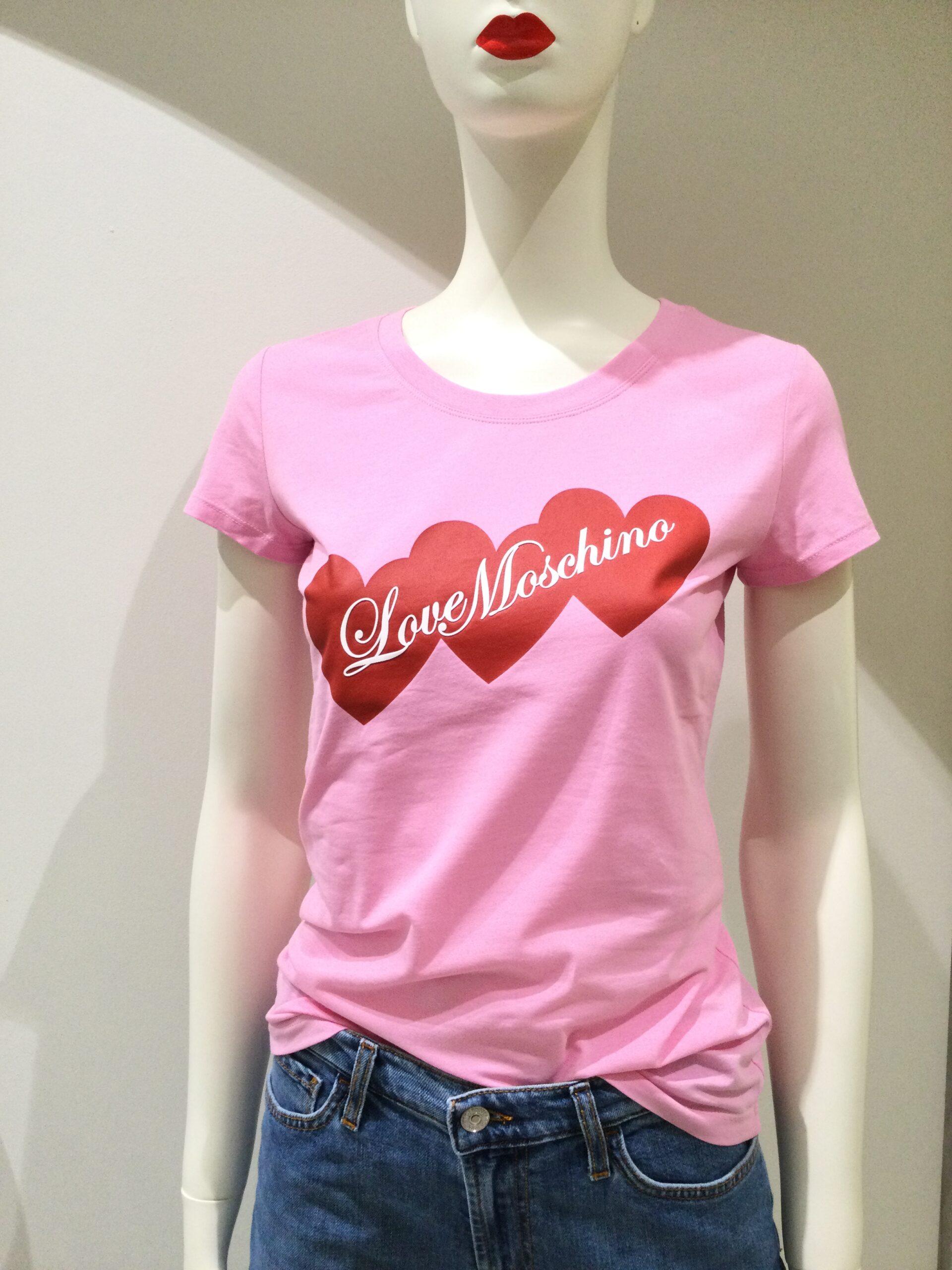 LOVE MOSCHINO T-SHIRT Hearts Rosa