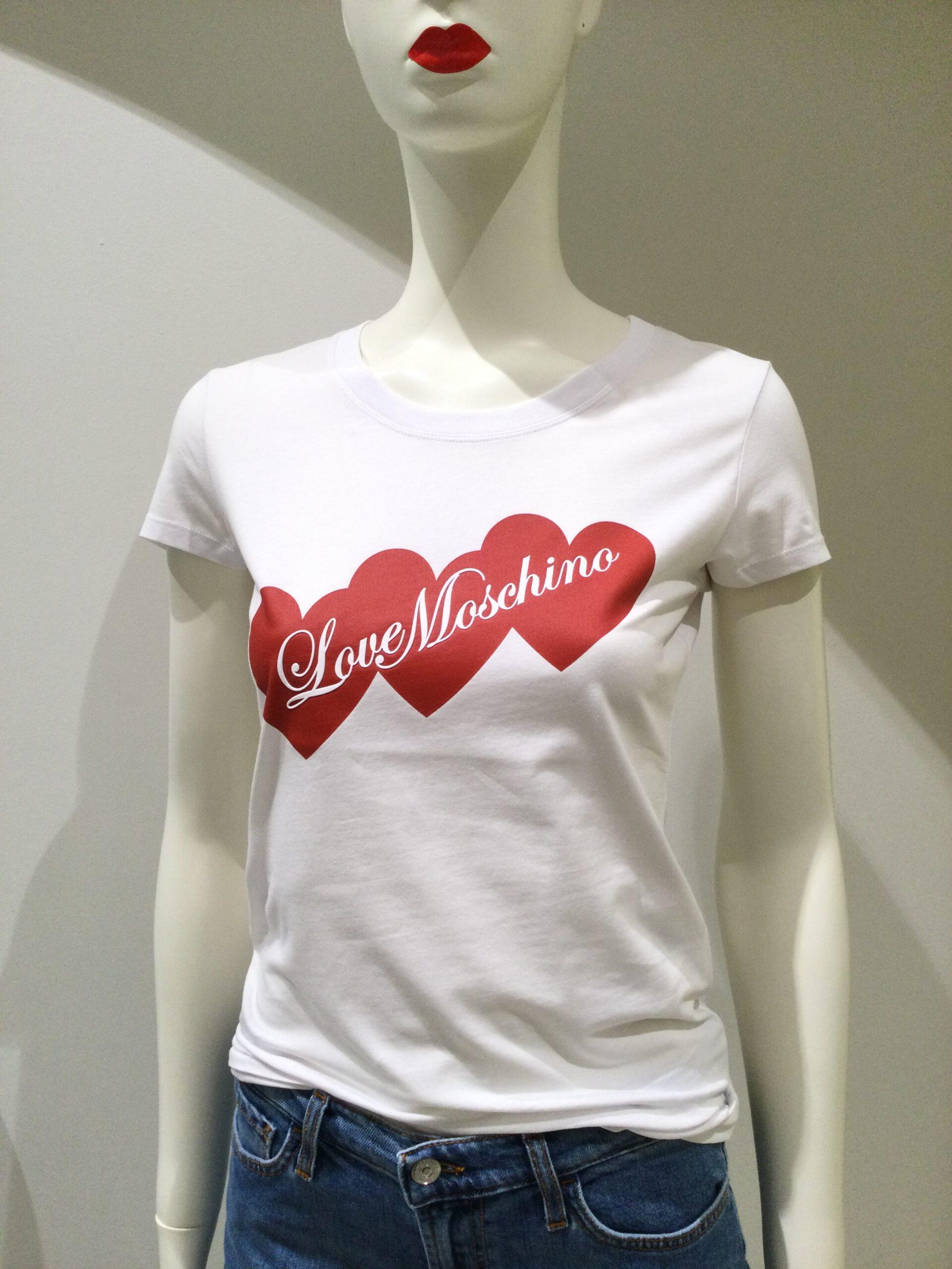 LOVE MOSCHINO T-SHIRT Hearts Bianca L