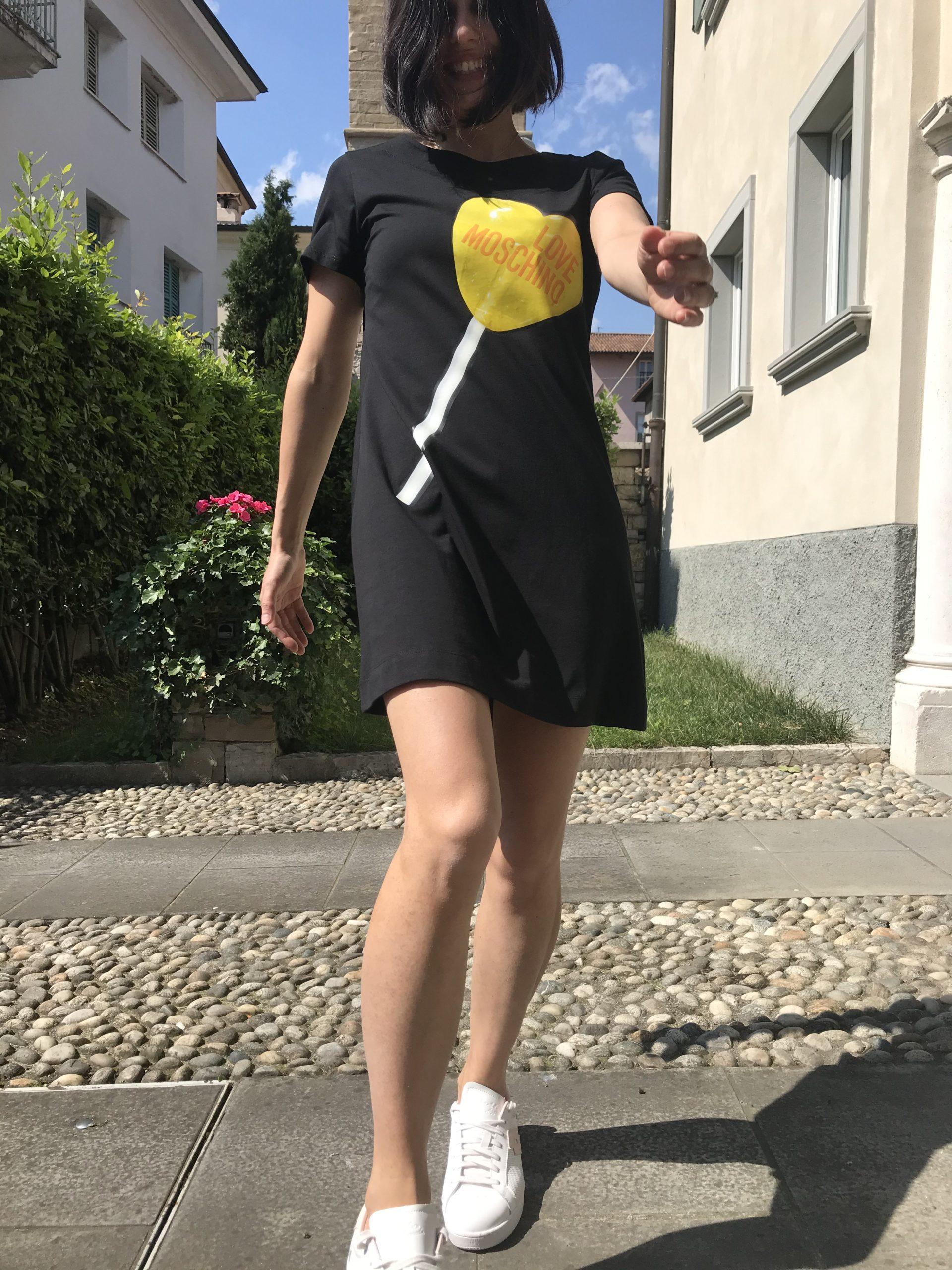 Abito Love Moschino Lollipop Nero
