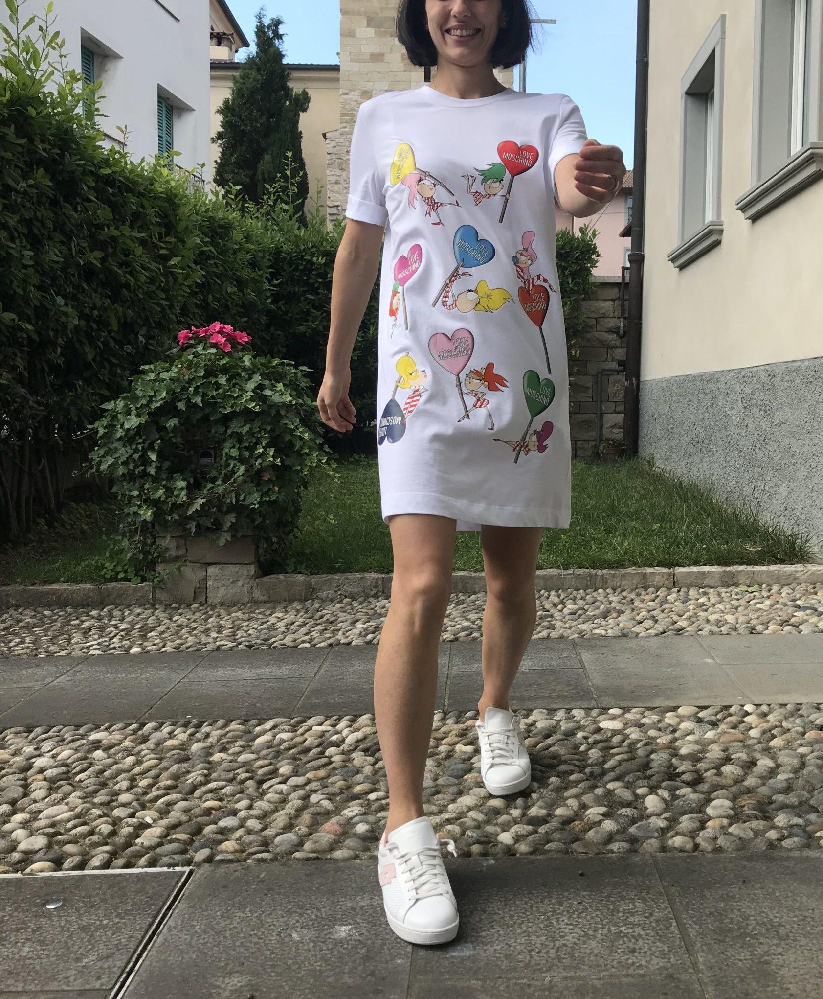 Abito Love Moschino Dolls Bianco