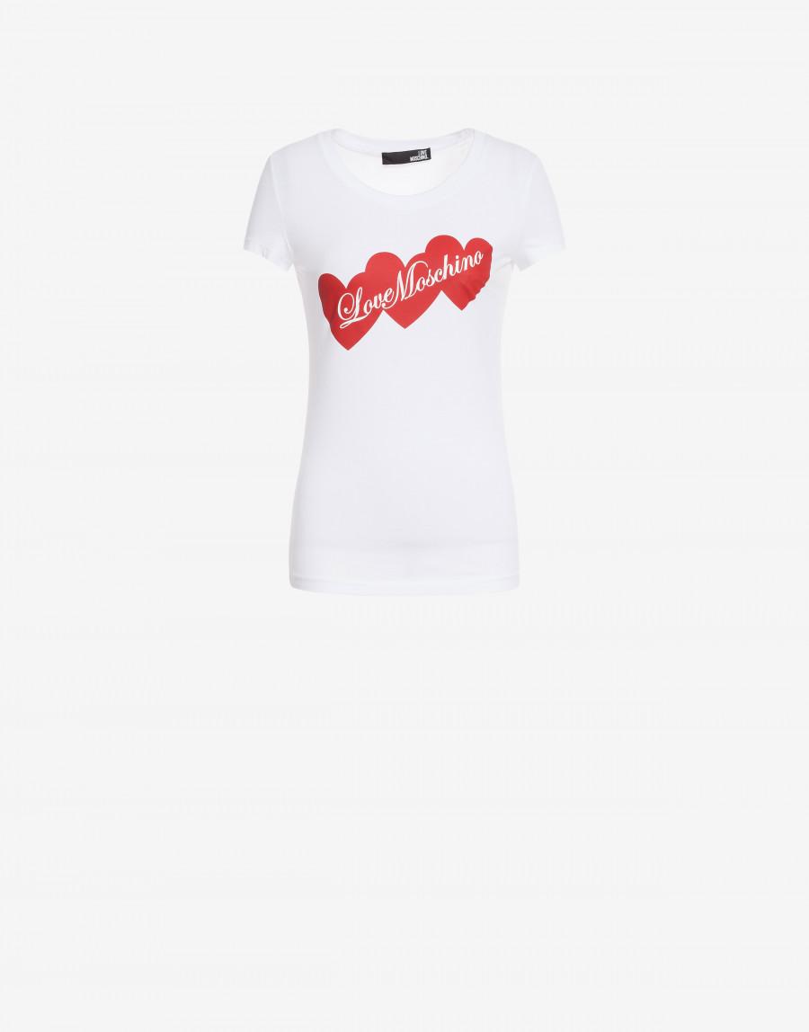 T-shirt Hearts Bianca Love Moschino