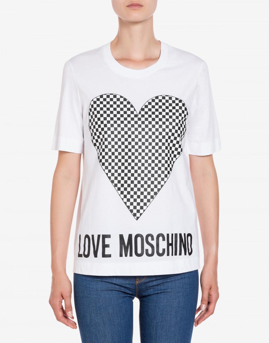 LOVE MOSCHINO T-SHIRT Cuore Check