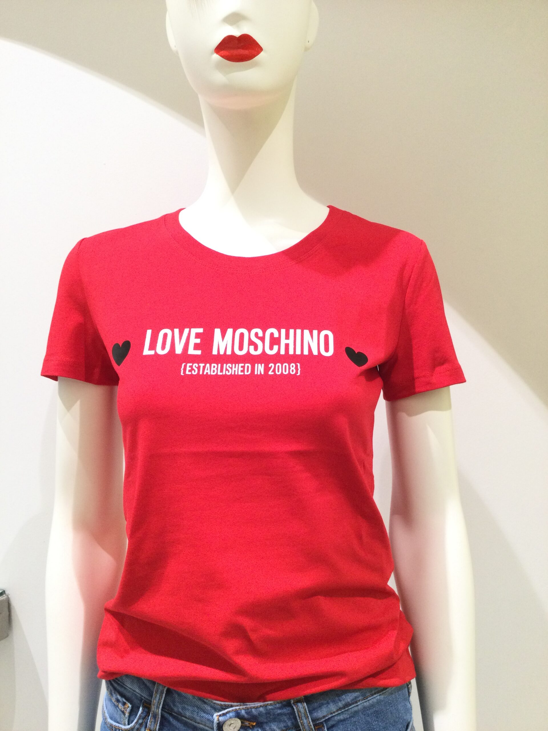 LOVE MOSCHINO T-SHIRT ROSSA