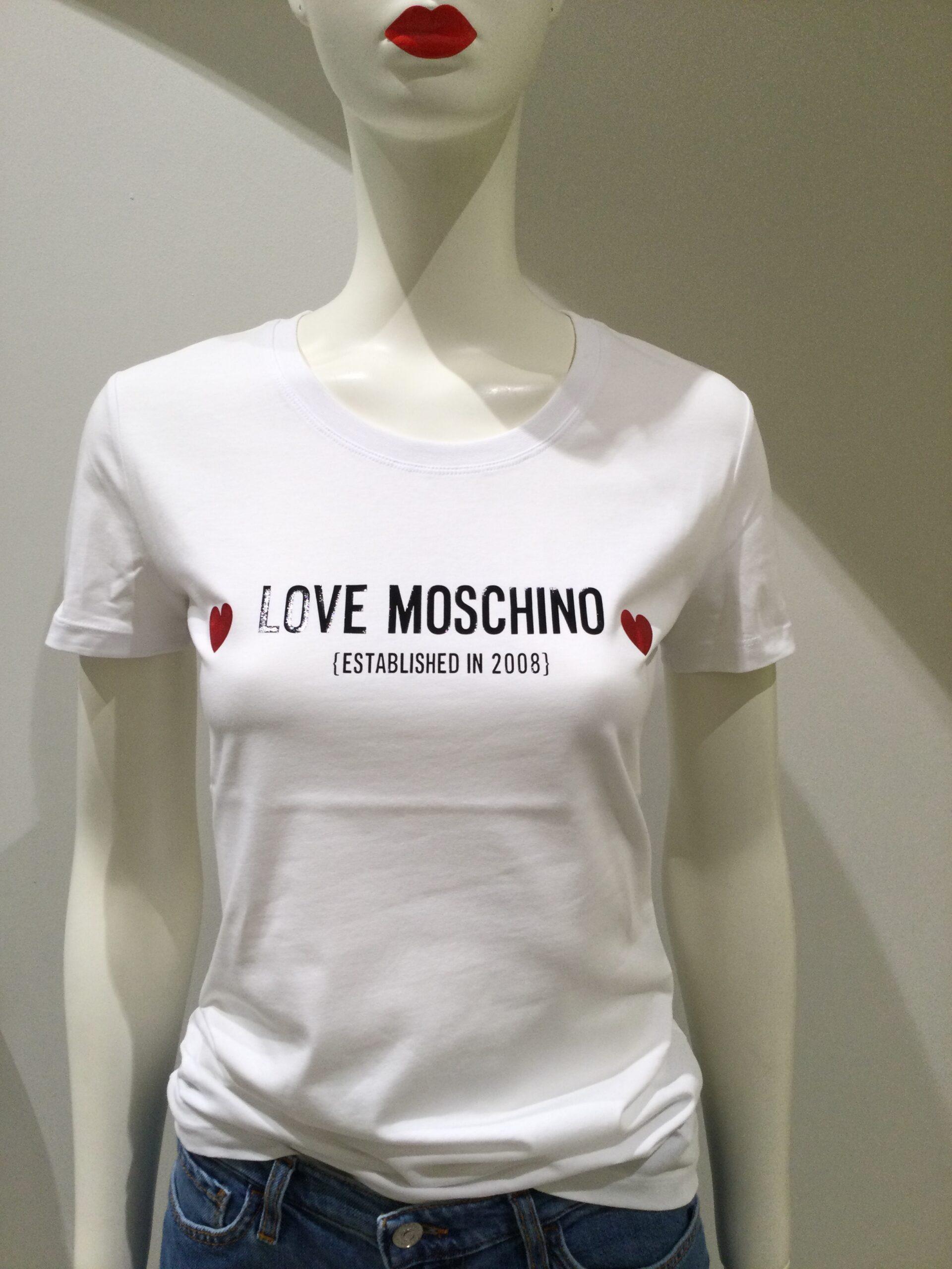 LOVE MOSCHINO T-SHIRT BIANCA