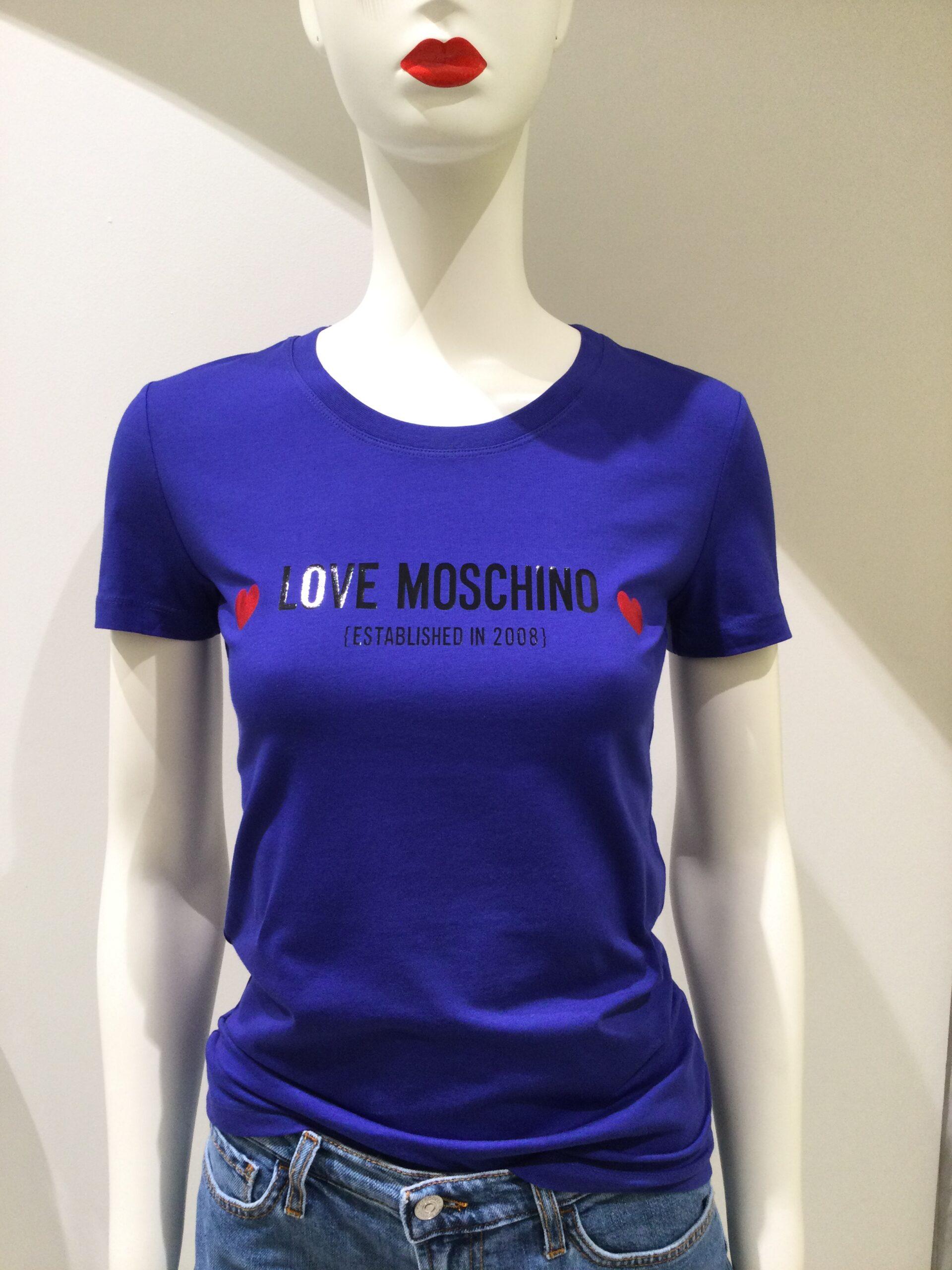 LOVE MOSCHINO T-SHIRT INDACO