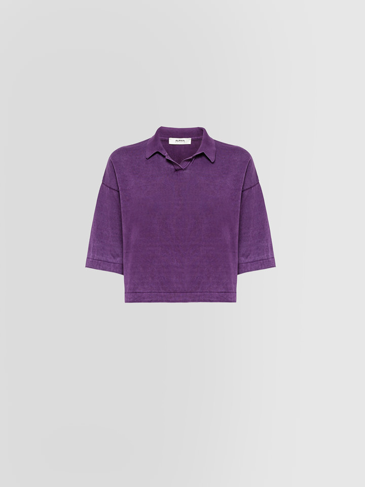 ALPHA POLO SHORT VIOLA