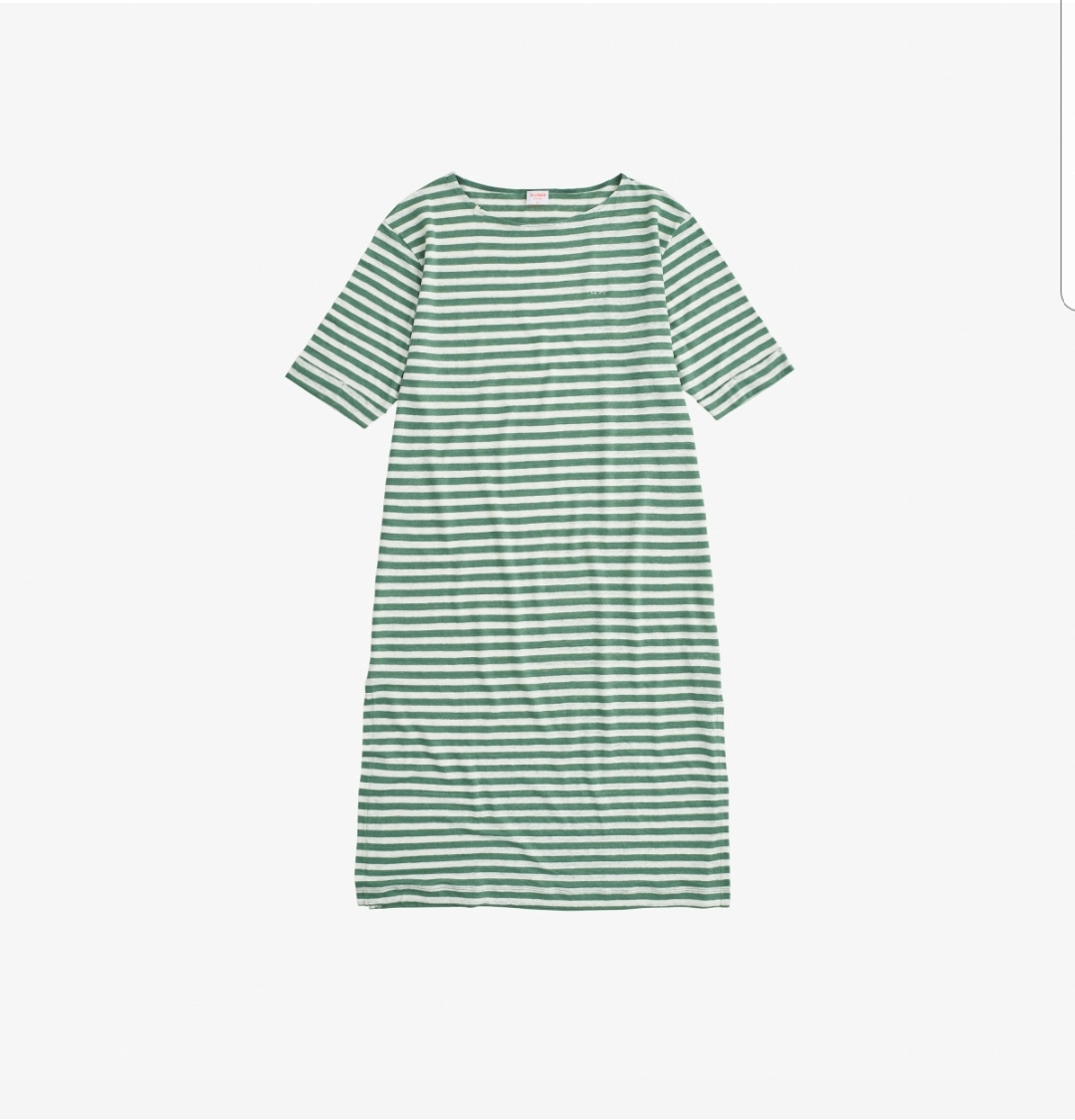 SUN68 DRESS LINEN STRIPES VERDE SALVIA/BIANCO PANNA