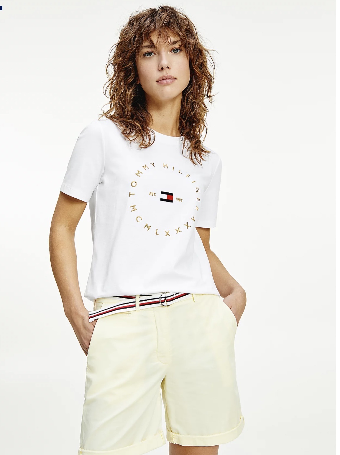 TOMMY HILFIGER T-SHIRT IN COTONE BIOLOGICO CON LOGO