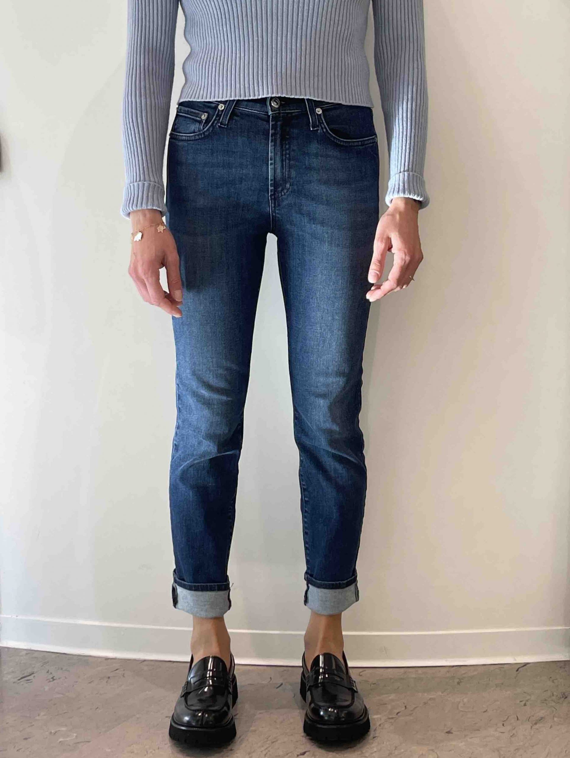 ROY ROGERS JEANS STRAIGHT BLU